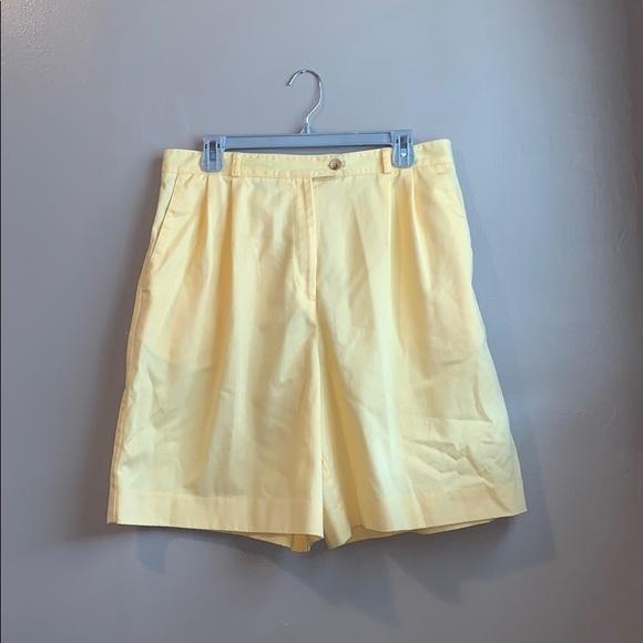 Talbots Pants - Talbots size 16 yellow Bermuda shorts